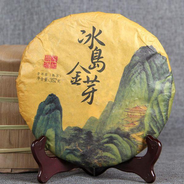 Trà phổ nhĩ chín cao cấo Puer tea 357g